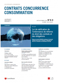 Contrats- Concurrence-Consommation