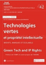 Technologies vertes et propriété intellectuelle (IRPI n°42)