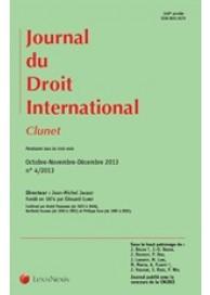 Clunet - Journal de droit international (vente au numéro)