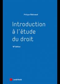 Introduction à l'étude du droit