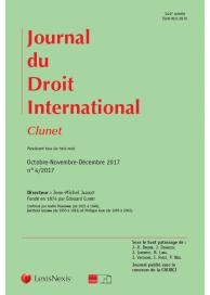 """Journal du droit international """"Clunet"""""""