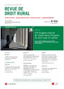 Revue de Droit Rural (vente au numéro)