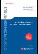 La procédure civile devant la cour d'appel