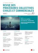 Revue des Procédures collectives civiles et commerciales (vente au numéro)