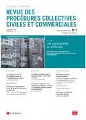 Revue des procédures collectives civiles et commerciales
